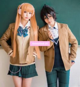 The Anonymous Noise Arisugawa Nino School Uniform Coat Shirt Vest Skirt Outfit Anime Cosplay Costumes