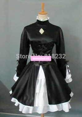 Fate/stay night Black Saber Alternative Uniform Dress Outfit Anime Cosplay Costumes