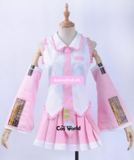 Sakura Vocaloid Hatsune Miku Tops Dress Uniform Outfit Anime Cosplay Costumes