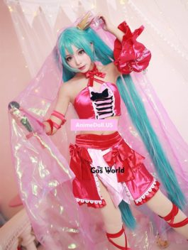 Vocaloid Hatsune Miku Tube Tops Dress Outfit Anime Cosplay Costumes