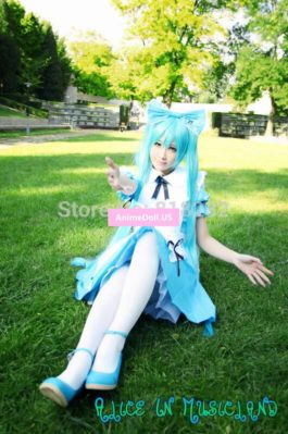 Alice in Musicland Vocaloid Hatsune Miku Apron Dress Uniform Maid Outfit Cosplay Costume