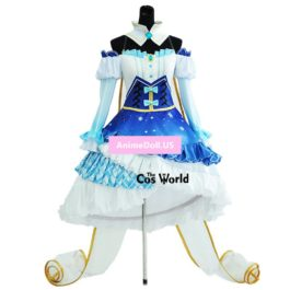 2019 Snow Vocaloid Hatsune Miku Tee Dress Uniform Outfit Anime Cosplay Costumes