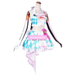 Vocaloid Hatsune Miku Racing Suit Tube Tops Dress Uniform Outfit Anime Cosplay Costumes