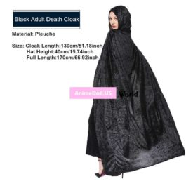 Halloween Hallowmas Adult children Death Witch Long Hooded Cloaks Capes Cosplay Costumes Christmas Gift Present