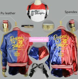 DC Comics Batman Suicide Squad Harley Quinn Uniform Outfit Halloween Cosplay Costumes