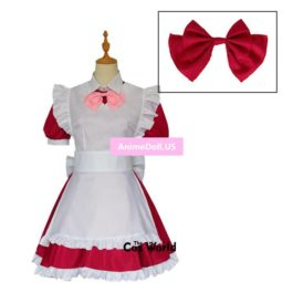 ALICE or ALICE Rise Airi Lolita Maid Apron Dress Uniform Outfit Anime Cosplay Costumes