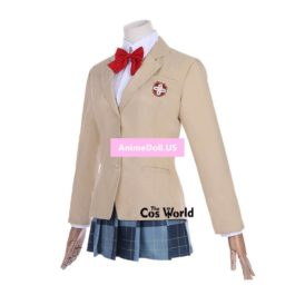 A Certain Magical Index Mikoto Misaka School Uniform Coat Shirt Dress Outfit Anime Cosplay Costumes
