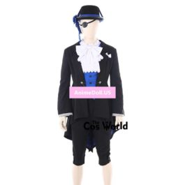Black Butler Kuroshitsuji Ciel Phantomhive Birthday Party Swallow-tailed Dress Coat Suits Uniform Outfit Anime Cosplay Costumes