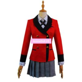 Comics Kakegurui Compulsive Gambler Momobami Kirari School Uniform Coat Shirt Skirt Outfit Anime Cosplay Costumes