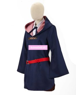 Little Witch Academia Lotte Yanson Shirt Dress Uniform Outfit Anime Halloween Hallowmas Cosplay Costumes