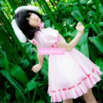 Touhou Project Tewi Inaba Sweet Pink Dress Uniform Outfit Cosplay Costumes
