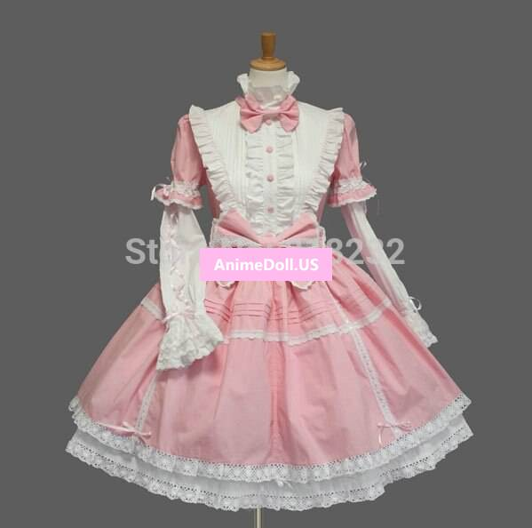 Lolita Gothic Vintage Princess Lace Bowknot Joint Sleeve ...