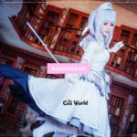 DATE A LIVE Nightmare Kurumi Tokisaki The White Queen Dress Outfit Anime Cosplay Costumes