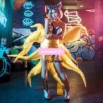 LOL KDA The Nine-Tailed Fox Ahri Jumpsuits Dress Uniform Outfit Games Cosplay Costumes