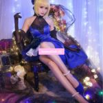 FGO Fate Extella Saber Full Dress Formal Dress Uniform Anime Outfit Cosplay Costumes