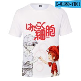 2019 latest Cells at Work 3D T-Shirt Women/Men Japanese Manga Style Summer Young Kawaii Girl Cells at Work Sweatshirt 3D T Shirt v1