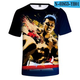 Classic Popular 3D Print Boxer Muhammad Ali t shirt Men/Women Summer boys/girls Short Sleeves 3D Tees Cool Muhammad Ali T-shirt v1