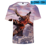 Hot Game 3D Troye Sekiro Shadow Die Twice T-shirts Men/Women 2019 Summer T-shirts men/women leisure Short Sleeves 3D T shirt v1