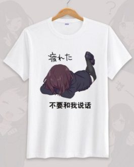 Anime menhera chan Cosplay T-shirt Summer Unisex O Neck Short Sleeve COS Short-sleeve Men women Tees tops v1