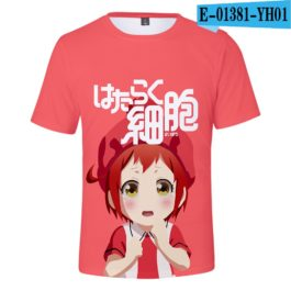 2019 latest Cells at Work 3D T-Shirt Women/Men Japanese Manga Style Summer Young Kawaii Girl Cells at Work Sweatshirt 3D T Shirt v10