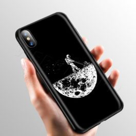 Space Moon Cute Cats Case for Apple iPhone 11 Pro XS Max XR X 8 7 6 6S Plus 5 5S SE v10