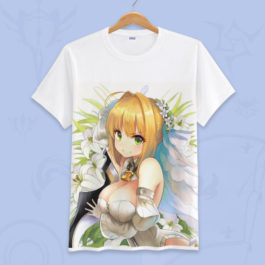 Anime Fate Go Game Fate grand order T Shirt Unisex Short Sleeve fgo T-shirt Fate Apocrypha saber Cosplay Tshirt Tops v10