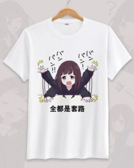 Anime menhera chan Cosplay T-shirt Summer Unisex O Neck Short Sleeve COS Short-sleeve Men women Tees tops v11