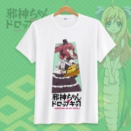 Jashin-chan Dropkick Tshirt Dropkick On My Devil Funny Printed Cosplay T-Shirt Tops Casual Short Sleeve T Shirt v11