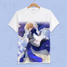 Anime Fate Go Game Fate grand order T Shirt Unisex Short Sleeve fgo T-shirt Fate Apocrypha saber Cosplay Tshirt Tops v11