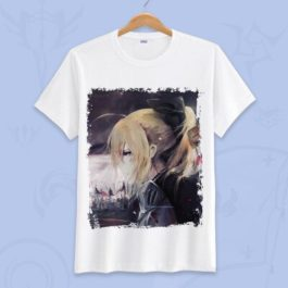 Anime Fate Go Game Fate grand order T Shirt Unisex Short Sleeve fgo T-shirt Fate Apocrypha saber Cosplay Tshirt Tops v12