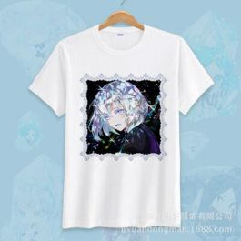Anime Land of the Lustrous Short Sleeve T-shirt Cosplay Costume Cute Cartoon Printed Daily Casual Tee Shirt v13