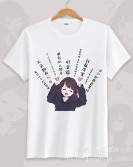 Anime menhera chan Cosplay T-shirt Summer Unisex O Neck Short Sleeve COS Short-sleeve Men women Tees tops v14