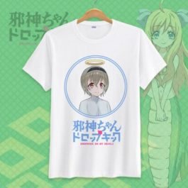 Jashin-chan Dropkick Tshirt Dropkick On My Devil Funny Printed Cosplay T-Shirt Tops Casual Short Sleeve T Shirt v14