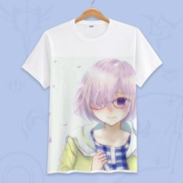 Anime Fate Go Game Fate grand order T Shirt Unisex Short Sleeve fgo T-shirt Fate Apocrypha saber Cosplay Tshirt Tops v14