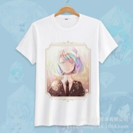 Anime Land of the Lustrous Short Sleeve T-shirt Cosplay Costume Cute Cartoon Printed Daily Casual Tee Shirt v16