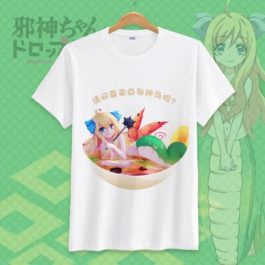 Jashin-chan Dropkick Tshirt Dropkick On My Devil Funny Printed Cosplay T-Shirt Tops Casual Short Sleeve T Shirt v16