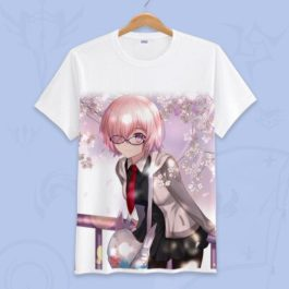 Anime Fate Go Game Fate grand order T Shirt Unisex Short Sleeve fgo T-shirt Fate Apocrypha saber Cosplay Tshirt Tops v18