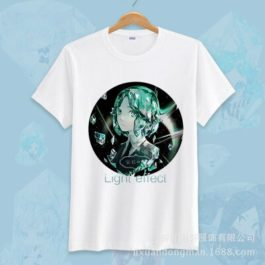 Anime Land of the Lustrous Short Sleeve T-shirt Cosplay Costume Cute Cartoon Printed Daily Casual Tee Shirt v19