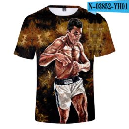 Classic Popular 3D Print Boxer Muhammad Ali t shirt Men/Women Summer boys/girls Short Sleeves 3D Tees Cool Muhammad Ali T-shirt v2
