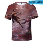 Hot Game 3D Troye Sekiro Shadow Die Twice T-shirts Men/Women 2019 Summer T-shirts men/women leisure Short Sleeves 3D T shirt v2