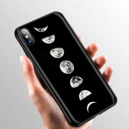 Space Moon Cute Cats Case for Apple iPhone 11 Pro XS Max XR X 8 7 6 6S Plus 5 5S SE v2