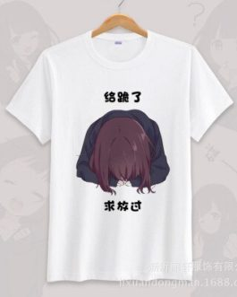 Anime menhera chan Cosplay T-shirt Summer Unisex O Neck Short Sleeve COS Short-sleeve Men women Tees tops v20