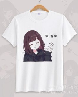 Anime menhera chan Cosplay T-shirt Summer Unisex O Neck Short Sleeve COS Short-sleeve Men women Tees tops v22