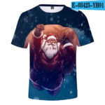 3D Christmas Blue T-shirt Men/Women 2019 Trends Harajuku Cute Prints Christmas 3D T shirt Boys/Girls Hip Hop Tees v28