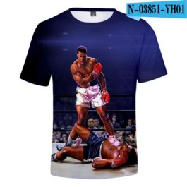 Classic Popular 3D Print Boxer Muhammad Ali t shirt Men/Women Summer boys/girls Short Sleeves 3D Tees Cool Muhammad Ali T-shirt v3