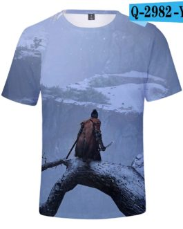 Hot Game 3D Troye Sekiro Shadow Die Twice T-shirts Men/Women 2019 Summer T-shirts men/women leisure Short Sleeves 3D T shirt v3