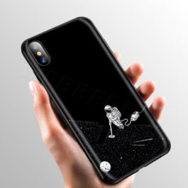 Space Moon Cute Cats Case for Apple iPhone 11 Pro XS Max XR X 8 7 6 6S Plus 5 5S SE v3