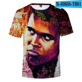 Classic Popular 3D Print Boxer Muhammad Ali t shirt Men/Women Summer boys/girls Short Sleeves 3D Tees Cool Muhammad Ali T-shirt v4