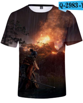 Hot Game 3D Troye Sekiro Shadow Die Twice T-shirts Men/Women 2019 Summer T-shirts men/women leisure Short Sleeves 3D T shirt v4