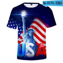 2019 New Independence Day 3D T shirts Men/women Summer Boys/girls Trendy Popular Cauual 3D Independence Day T-shirt Tees v4